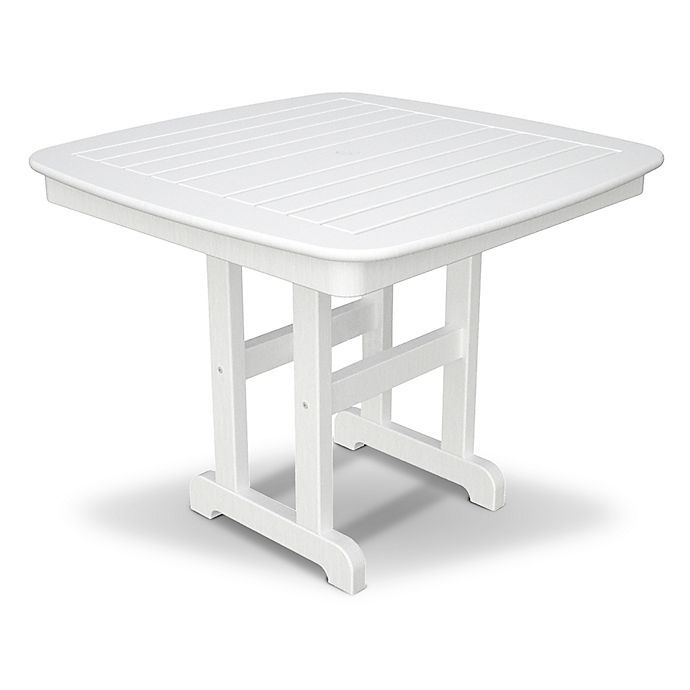 Alternate image 1 for POLYWOOD® Nautical 37-Inch Square Dining Table in White