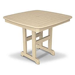 POLYWOOD® Nautical 37-Inch Square Dining Table in Sand