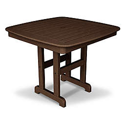 POLYWOOD® Nautical 37-Inch Square Dining Table in Mahogany