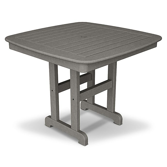 Alternate image 1 for POLYWOOD® Nautical 37-Inch Square Dining Table in Slate Grey