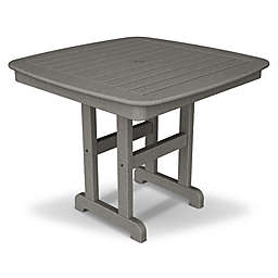 POLYWOOD® Nautical 37-Inch Square Dining Table in Slate Grey