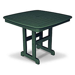 POLYWOOD® Nautical 37-Inch Square Dining Table in Green