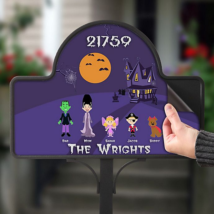 Alternate image 1 for Halloween Character Collection Magnetic Garden Sign in Purple