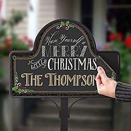 Merry Little Christmas Magnetic Garden Sign