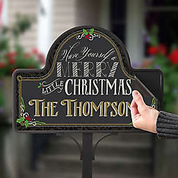 Merry Little Christmas Magnetic Garden Sign