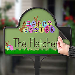 Happy Easter Magnetic Garden Sign