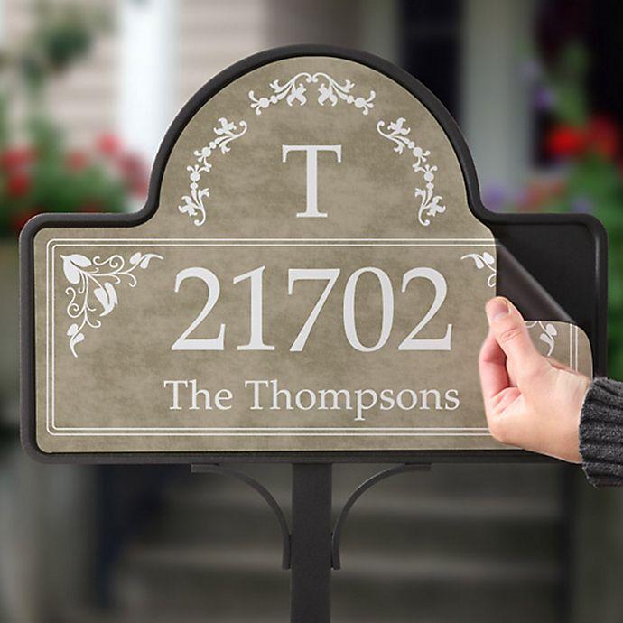 Alternate image 1 for Elegant Address Magnetic Garden Sign