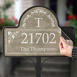 Elegant Address Magnetic Garden Sign