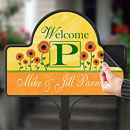 Summer Sunflowers Magnetic Garden Sign