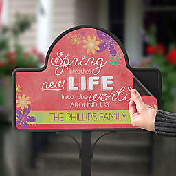Spring Flowers Magnetic Garden Sign
