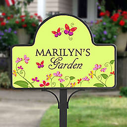 Floral Welcome Magnetic Garden Sign