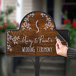 Our Rustic Wedding Magnetic Garden Sign