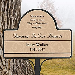 Forever In Our Hearts Memorial Garden Sign