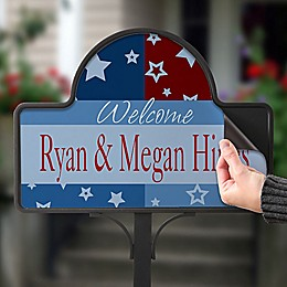 All American Magnetic Garden Sign