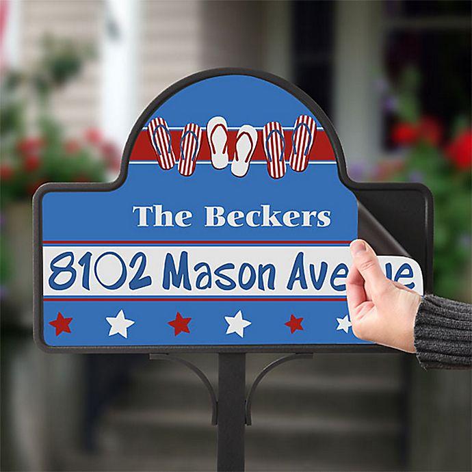 Alternate image 1 for Patriotic Flip Flops Magnetic Garden Sign