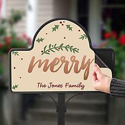 Cozy Christmas Magnetic Garden Sign
