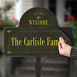 Established Family Welcome Magnetic Garden Sign