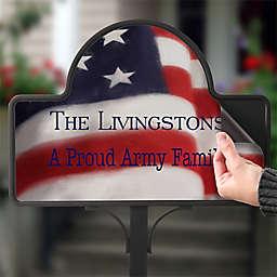 American Flag Magnetic Garden Sign