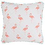 Levtex Home Flamingo Bay European Pillow Sham in Pink/White