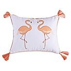 Levtex Home Flamingo Bay Flamingo Throw Pillow in White/Blush
