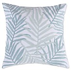 Levtex Home Flamingo Bay Palm Leaves Square Throw Pillow in Green