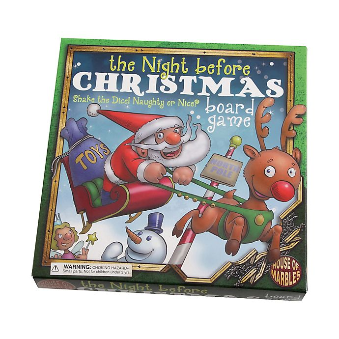 Alternate image 1 for House of Marbles The Night Before Christmas Board Game