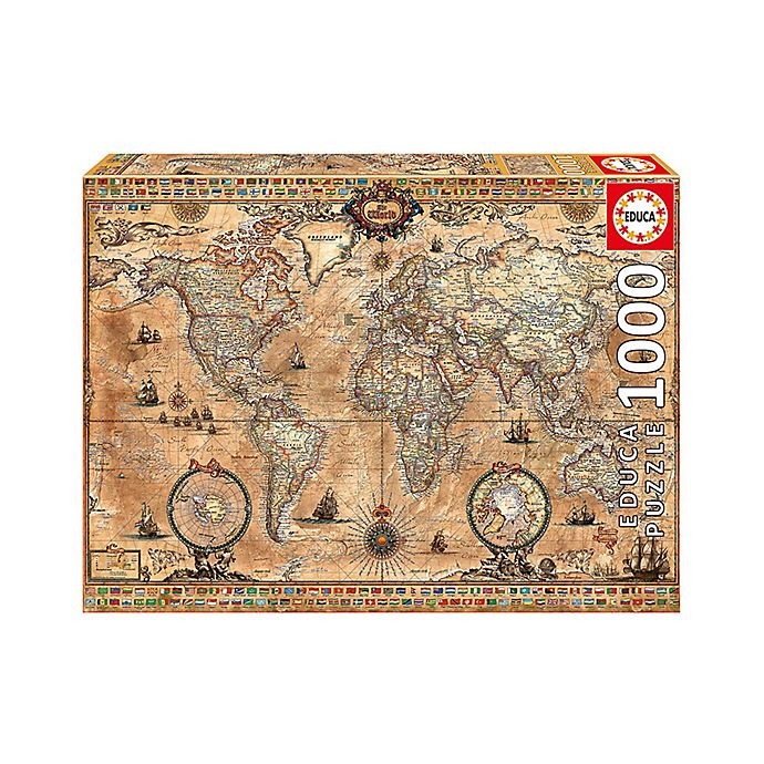 Alternate image 1 for Educa Antique World Map 1000-Piece Jigsaw Puzzle
