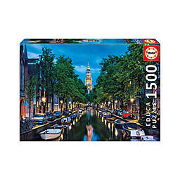 Educa Amsterdam Canal at Dusk 1,500-Piece Jigsaw Puzzle