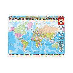 Educa Political World Map 1500-Piece Jigsaw Puzzle