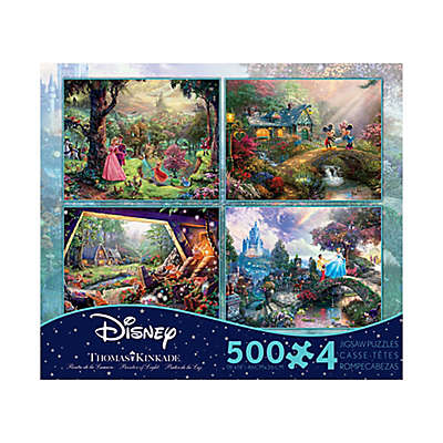 Ceaco Thomas Kinkade Disney Dreams 4-in-1 Jigsaw Puzzle Pack