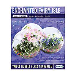 DuneCraft Enchanted Fairy Isle Triple Bubble Glass Terrarium