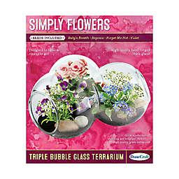 DuneCraft Simply Flowers Triple Bubble Glass Terrarium
