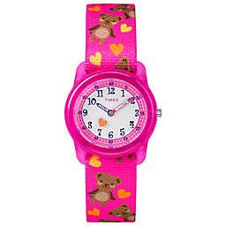 Timex® Time Machines Children's 28mm Teddy Bear Watch in Pink