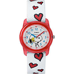 Timex® Time Machines Children's 28mm Peanuts Snoopy and Woodstock Hearts Watch
