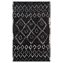 Momeni Margaux Geometric 5' x 7'6 Area Rug in Black