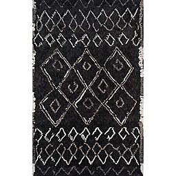 Momeni Margaux Geometric 7'6 x 9'6 Area Rug in Black
