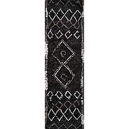 Momeni Margaux Geometric 2'3 x 8' Runner in Black