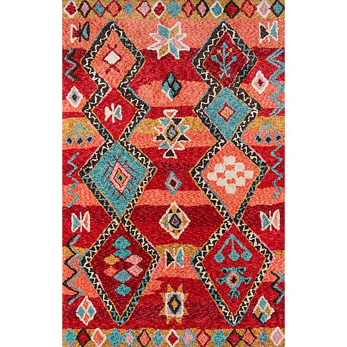 Alternate image 1 for Momeni Margaux Geometric 2' x 3' Hand-Tufted Accent Rug in Red