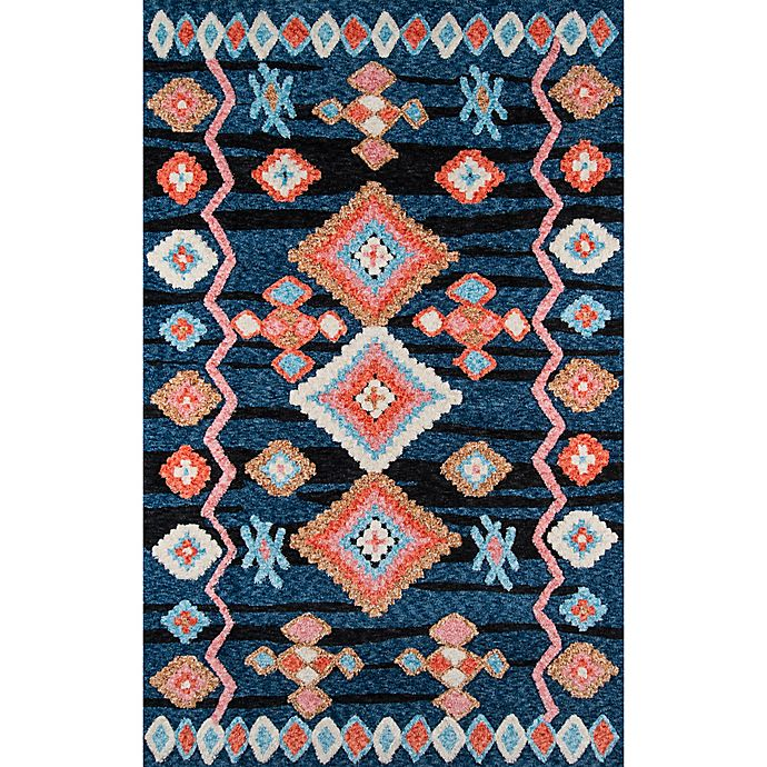 Alternate image 1 for Momeni Margaux Geometric Rug in Navy