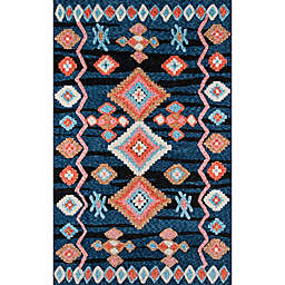 Momeni Margaux Geometric Rug in Navy