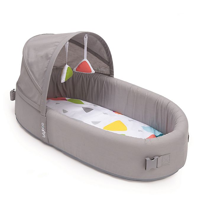Alternate image 1 for LulyBoo® Bassinet To-Go Metro Travel Bed in Grey