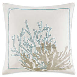 Harbor House™ Canon Beach Embroidered Coral Square Throw Pillow