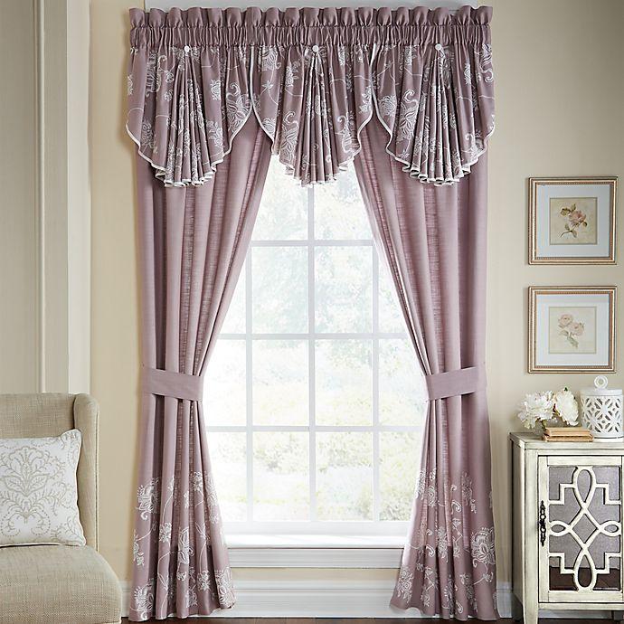 Alternate image 1 for Croscill® Liliana Window Valance in Mauve