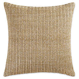 Coastal Living® Green Palm Rattan Square Throw Pillow in Natural