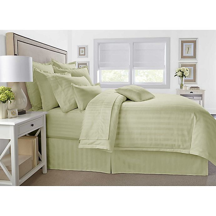 Alternate image 1 for Wamsutta® 500-Thread-Count PimaCott® Damask Stripe 3-Piece Comforter Set