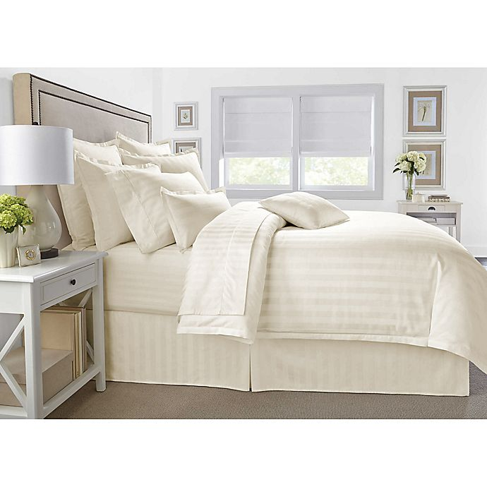 Alternate image 1 for Wamsutta® 500-Thread-Count PimaCott® Damask 2-Piece Twin Comforter Set in Ivory