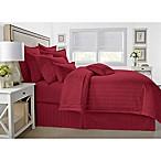 Wamsutta® 500-Thread-Count PimaCott® Damask Full/Queen Comforter Set in Burgundy
