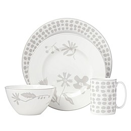 kate spade new york Spring Street™ Flax 4-Piece Place Setting