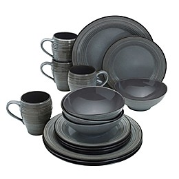 Mikasa® Swirl Speckle 16-Piece Dinnerware Set in Graphite