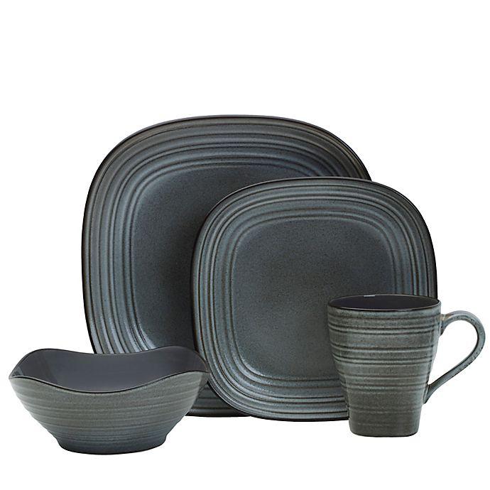 Alternate image 1 for Mikasa® Swirl Speckle Square Dinnerware Collection in Graphite